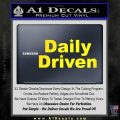 Daily Driven Decal Sticker Yellow Laptop 120x120