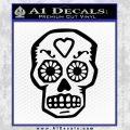 Day Of The Dead Skull Decal Sticker Black Vinyl 120x120