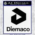 Diemaco Firearms Decal Sticker Black Vinyl 120x120