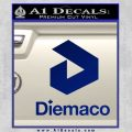 Diemaco Firearms Decal Sticker Blue Vinyl 120x120