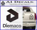 Diemaco Firearms Decal Sticker Carbon FIber Black Vinyl 120x97