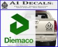 Diemaco Firearms Decal Sticker Green Vinyl Logo 120x97