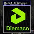 Diemaco Firearms Decal Sticker Lime Green Vinyl 120x120