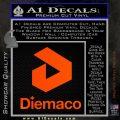 Diemaco Firearms Decal Sticker Orange Emblem 120x120