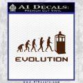Doctor Who Evolution D2 Decal Sticker BROWN Vinyl 120x120