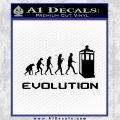 Doctor Who Evolution D2 Decal Sticker Black Vinyl 120x120