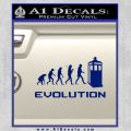 Doctor Who Evolution D2 Decal Sticker Blue Vinyl 120x120