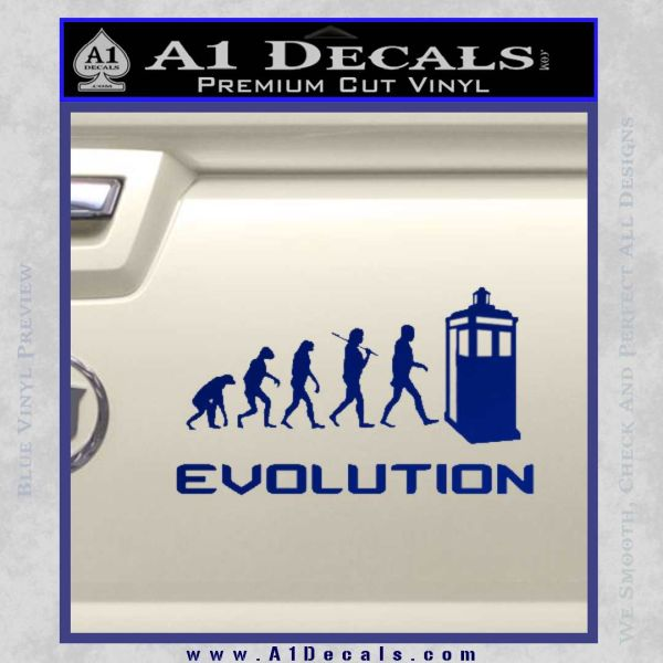 Doctor Who Evolution D2 Decal Sticker Blue Vinyl