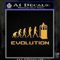 Doctor Who Evolution D2 Decal Sticker Gold Vinyl 120x120
