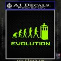 Doctor Who Evolution D2 Decal Sticker Lime Green Vinyl 120x120