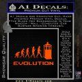Doctor Who Evolution D2 Decal Sticker Orange Emblem 120x120