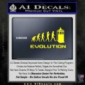 Doctor Who Evolution D2 Decal Sticker Yellow Laptop 120x120