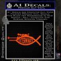 Doctor Who Exterminate Jesus Fish Decal Sticker Orange Emblem 120x120
