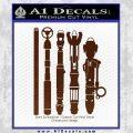 Doctor Who Sonic Screwdriver Collection Decal Sticker BROWN Vinyl 120x120