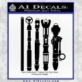 Doctor Who Sonic Screwdriver Collection Decal Sticker Black Vinyl 120x120