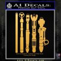 Doctor Who Sonic Screwdriver Collection Decal Sticker Gold Vinyl 120x120