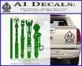 Doctor Who Sonic Screwdriver Collection Decal Sticker Green Vinyl Logo 120x97