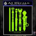 Doctor Who Sonic Screwdriver Collection Decal Sticker Lime Green Vinyl 120x120