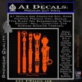 Doctor Who Sonic Screwdriver Collection Decal Sticker Orange Emblem 120x120