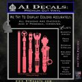 Doctor Who Sonic Screwdriver Collection Decal Sticker Pink Emblem 120x120