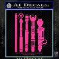 Doctor Who Sonic Screwdriver Collection Decal Sticker Pink Hot Vinyl 120x120