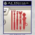 Doctor Who Sonic Screwdriver Collection Decal Sticker Red 120x120