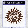 Doctor Who Superwho Seal Of Rassilon Decal Sticker BROWN Vinyl 120x120
