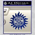 Doctor Who Superwho Seal Of Rassilon Decal Sticker Blue Vinyl 120x120