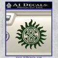 Doctor Who Superwho Seal Of Rassilon Decal Sticker Dark Green Vinyl 120x120