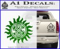 Doctor Who Superwho Seal Of Rassilon Decal Sticker Green Vinyl Logo 120x97