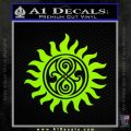 Doctor Who Superwho Seal Of Rassilon Decal Sticker Lime Green Vinyl 120x120