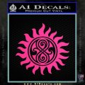 Doctor Who Superwho Seal Of Rassilon Decal Sticker Pink Hot Vinyl 120x120