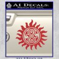 Doctor Who Superwho Seal Of Rassilon Decal Sticker Red 120x120