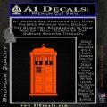 Doctor Who Tardis 8 Bit Decal Sticker Orange Emblem 120x120