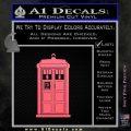 Doctor Who Tardis 8 Bit Decal Sticker Pink Emblem 120x120