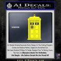 Doctor Who Tardis 8 Bit Decal Sticker Yellow Laptop 120x120