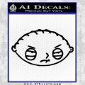 Family Guy Stewie Decal Sticker D1 Black Vinyl 120x120