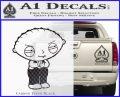 Family Guy Stewie Decal Sticker D2 Carbon FIber Black Vinyl 120x97