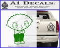 Family Guy Stewie Decal Sticker D2 Green Vinyl Logo 120x97