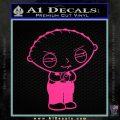 Family Guy Stewie Decal Sticker D2 Pink Hot Vinyl 120x120
