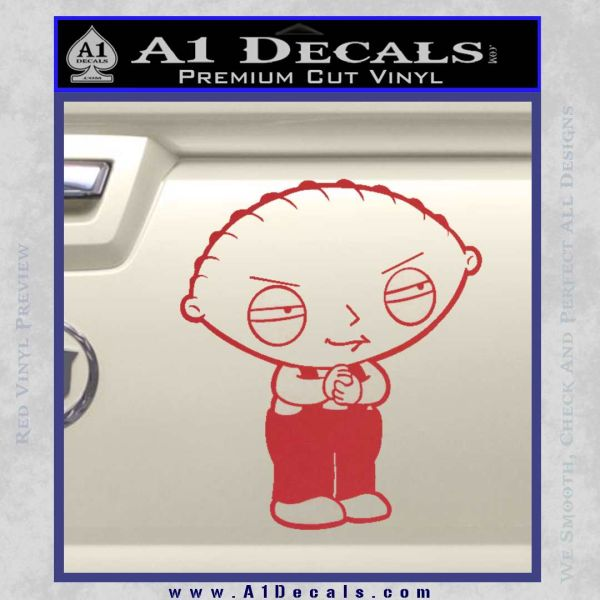 Family Guy Stewie Decal Sticker D2 Red