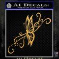 Fancy Butterfly D7 Decal Sticker Gold Vinyl 120x120