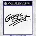 George Strait Decal Sticker Black Vinyl 120x120