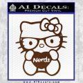 Hello Kitty Loves Nerds Decal Sticker BROWN Vinyl 120x120