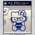 Hello Kitty Loves Nerds Decal Sticker Blue Vinyl 120x120