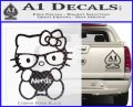 Hello Kitty Loves Nerds Decal Sticker Carbon FIber Black Vinyl 120x97