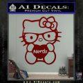 Hello Kitty Loves Nerds Decal Sticker DRD Vinyl 120x120