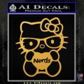 Hello Kitty Loves Nerds Decal Sticker Gold Vinyl 120x120