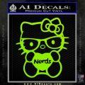 Hello Kitty Loves Nerds Decal Sticker Lime Green Vinyl 120x120
