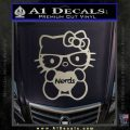 Hello Kitty Loves Nerds Decal Sticker Metallic Silver Emblem 120x120